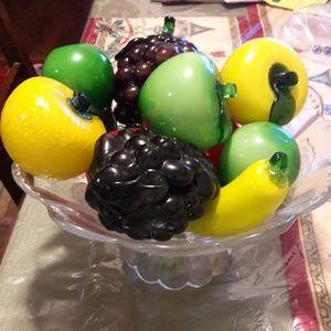 Vintage Art Glass Fruit